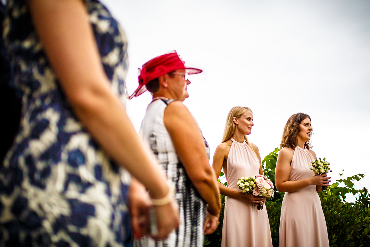 The bridesmaids of the wedding in the Basque country