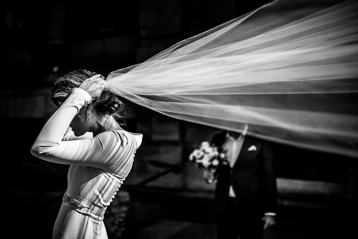 The veil of the bride